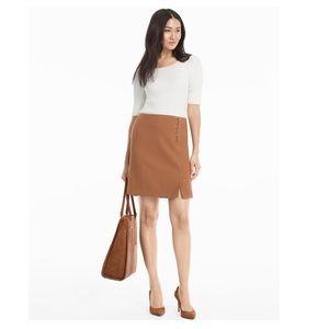 White House Black Market Lace-up detail skirt NWT